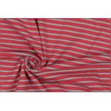 Basic cotton jersey stripe pink light blue - 22