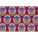 coton jersey flower medallion berry - 22