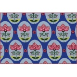 coton jersey flower medallion bluex - 22