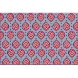 coton jersey flower petal berry - 22