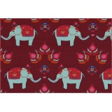 coton jersey elephant loveberry - 22