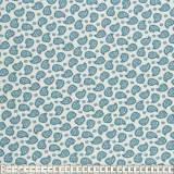 Tissu Mez Fabrics jersey mandala paisley blue - 22