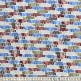 Tissu Mez Fabrics jersey alpaca fence blue - 22