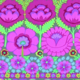 Tissu Kaffe Fassett embroid flower border-pink - 22