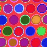 Tissu Kaffe Fassett paint pots-red - 22