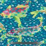 Arcadia-carp and petals-teal - 22