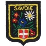 Écusson Savoie pm fleurs/montagne