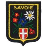 Écusson Savoie gm fleurs/montagne