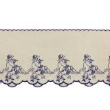 Bande joueur de flute 19cm bleu - 238