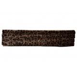 Galon imitation fourrure 5cm léopard foncé - 239