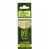 Aiguille tricot 2 pt bambou 16cm n°2,25 - 256
