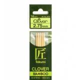 Aiguille tricot 2 pt bambou 16cm n°2,75 - 256