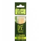 Aiguille tricot 2 pt bambou 16cm n°4 - 256