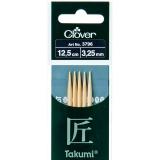 Aiguille tricot 2 pt bambou 12.5cm 3.25mm - 256