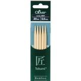 Aiguille tricot 2 pt bambou 20cm 5.00mm - 256