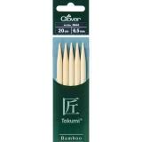Aiguille tricot 2 pt bambou 20cm 6.50mm - 256