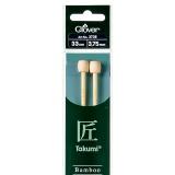 Aiguille à tricoter bambou 33cm 3.75mm- - 256