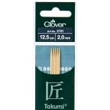 Aiguille tricot 2 pt bambou 12.5cm 2.00mm -unit - 256