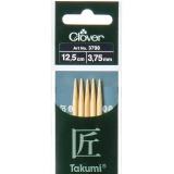 Aiguille tricot 2 pt bambou 12.5cm 3.75mm - 256