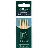 Aiguille tricot 2 pt bambou 12.5cm 4.50mm -unit - 256