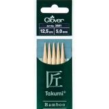 Aiguille tricot 2 pt bambou 12.5cm 5.00mm -unit - 256