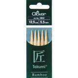 Aiguille tricot 2 pt bambou 12.5cm 5.50mm -unit - 256