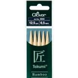 Aiguille tricot 2 pt bambou 12.5cm 6.50mm - 256