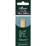 Aiguille tricot 2 pt bambou 16cm 2.25mm- - 256