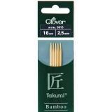 Aiguille tricot 2 pt bambou 16cm 2.50mm- - 256
