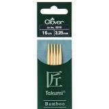 Aiguille tricot 2 pt bambou 16cm 3.25mm -unité- - 256