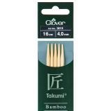 Aiguille tricot 2 pt bambou 16cm 4.00mm- - 256