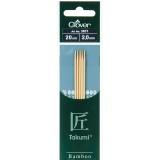 Aiguille tricot 2 pt bambou 20cm 2.00mm- - 256