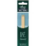 Aiguille tricot 2 pt bambou 20cm 2.25mm- - 256