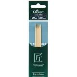 Aiguille tricot 2 pt bambou 20cm 2.50mm- - 256