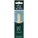 Aiguille tricot 2 pt bambou 20cm 2.75mm- - 256