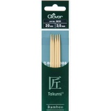Aiguille tricot 2 pt bambou 20cm 3.00mm- - 256