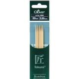 Aiguille tricot 2 pt bambou 20cm 3.25mm- - 256