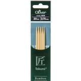 Aiguille tricot 2 pt bambou 20cm 3.75mm- - 256