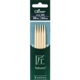 Aiguille tricot 2 pt bambou 20cm 4.50mm- - 256
