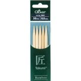 Aiguille tricot 2 pt bambou 20cm 6.00mm- - 256