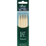 Aiguille tricot 2 pt bambou 20cm 6.50mm- - 256