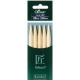 Aiguille tricot 2 pt bambou 20cm 9.00mm- - 256