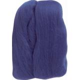 Laine mèche à feutrer bleu- - 256