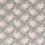 Tissu tilda x 1m white flower grey - 26