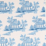 Tissu tilda x 1m china blue - 26