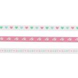 Set Panduro design de 3 rubans bébé rose 3 x 2 m - 26