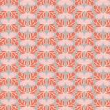 Tissu Panduro design 140cm butterfly flower red - 26