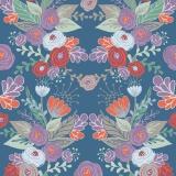 Tissu Panduro design 140 cm kurbits flower blue - 26