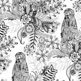 Tissu Panduro design 140 cm doodling flowers - 26