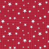 Tissu panduro design stars & stripes red - 26